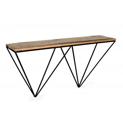 Console Table with Geometric Frame