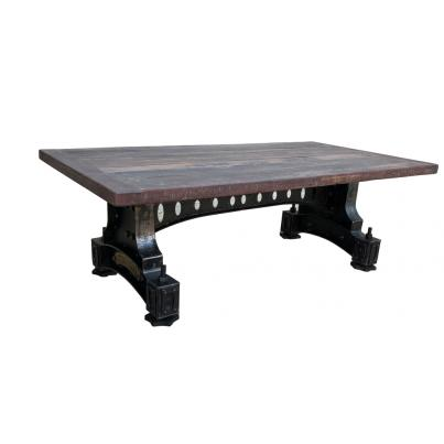 Reclaimed Wood Metal Coffee Table