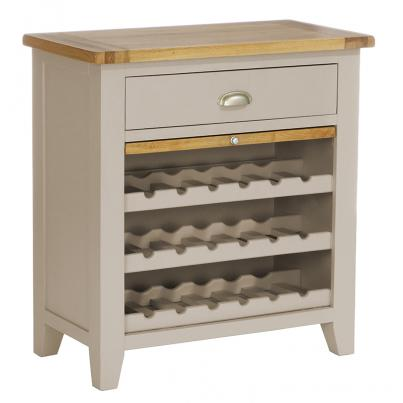 1 Drawer Wine Rack with Pull Out Shelf