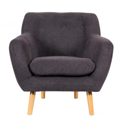 Grey Upholstered Lounger Chair