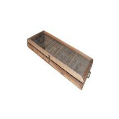 Reclaimed Spice Tray with Glass Top