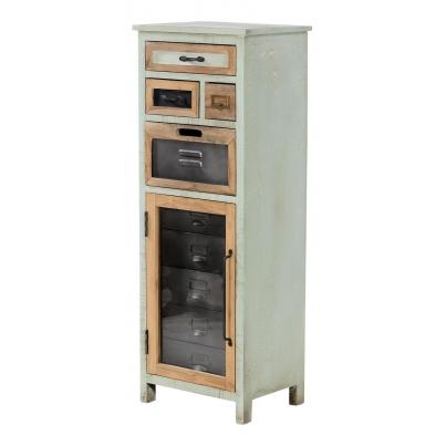 Tall Boy Storage Cabinet with 4 Drawers & 1 Door