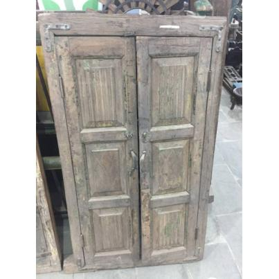 Antique Window Shutter Mirror Tall