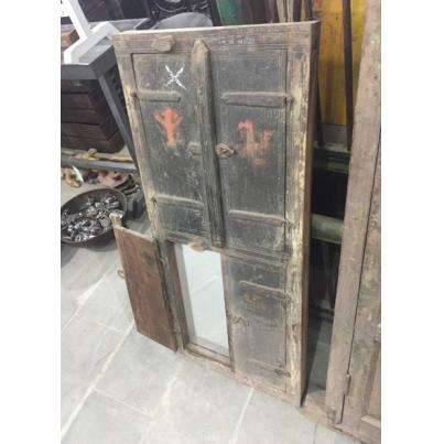 Antique Window Shutter Mirror 2 Door