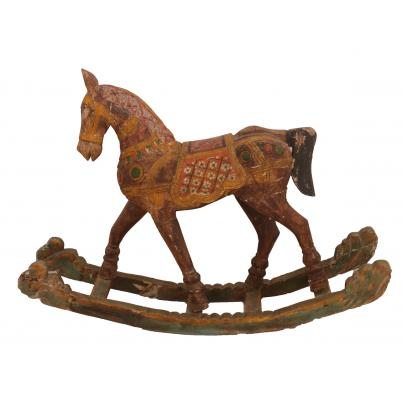 Vintage Hand Carved Rocking Horse