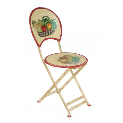 Vintage Iron Painted Chair