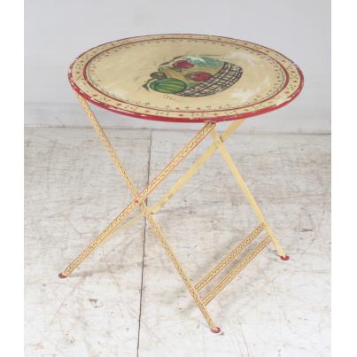 Vintage Iron Painted Round Table