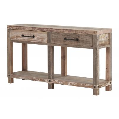 2 Drawer Console Table Reclaimed Wood