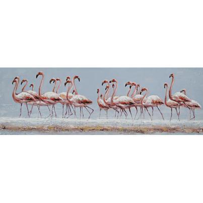 Flock of Flamingoes Canvas