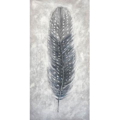 Grey Feather Canvas