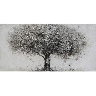 Grey Tree Diptych Canvas Pair