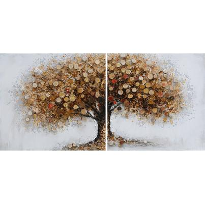 Autumnal Tree Diptych Canvas Pair